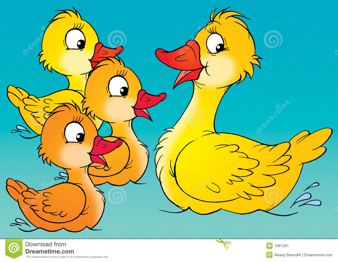 Duck and ducklings stock illustration. Illustration of drawing - 1681281 for Duck And Duckling Clipart  53kxo