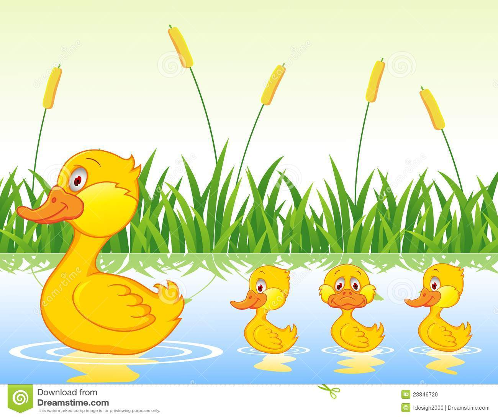 Duck family cartoon stock illustration. Image of bright ...