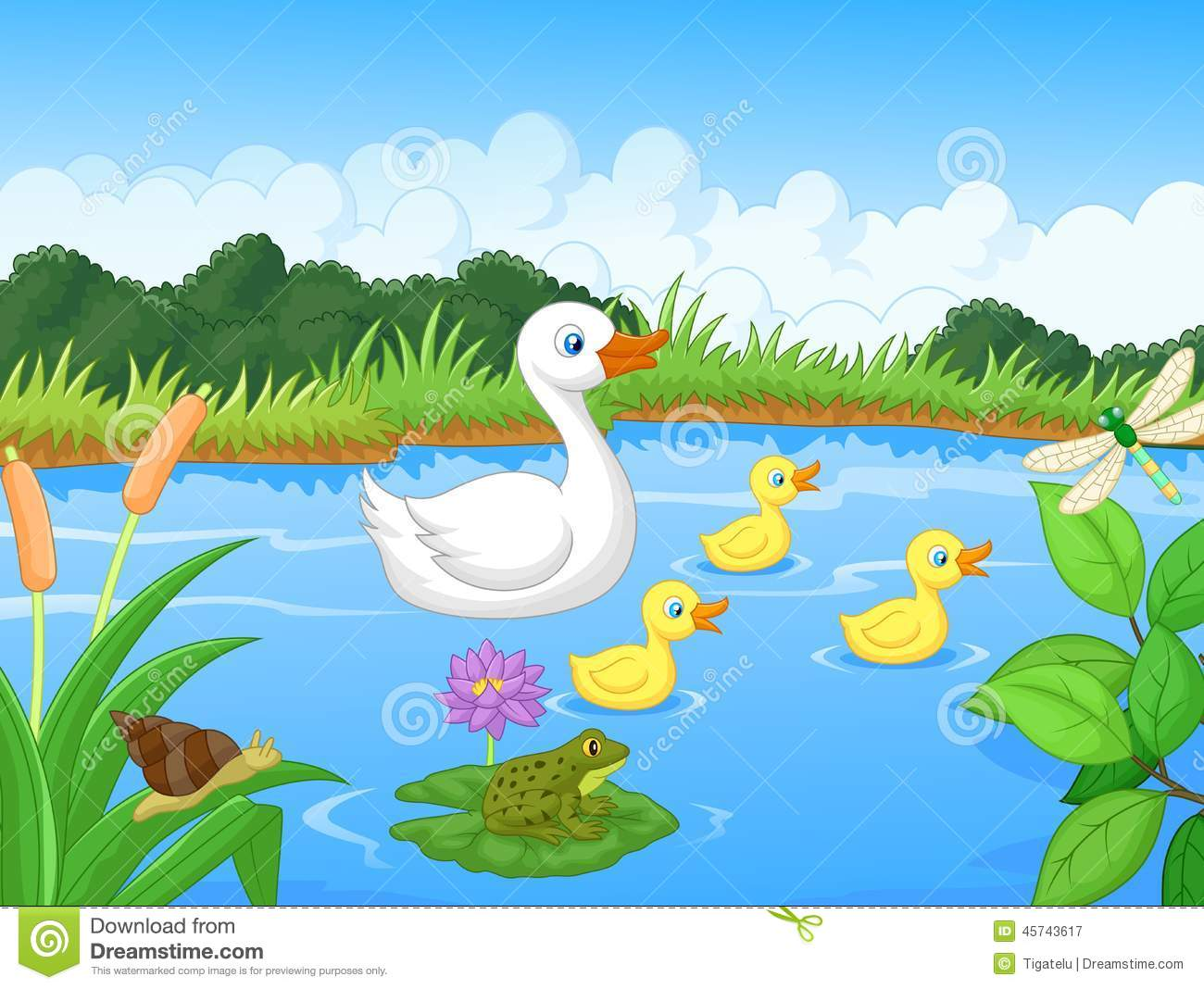 Cartoon Pond Lotus Stock Photos, Images, & Pictures - 241 Images