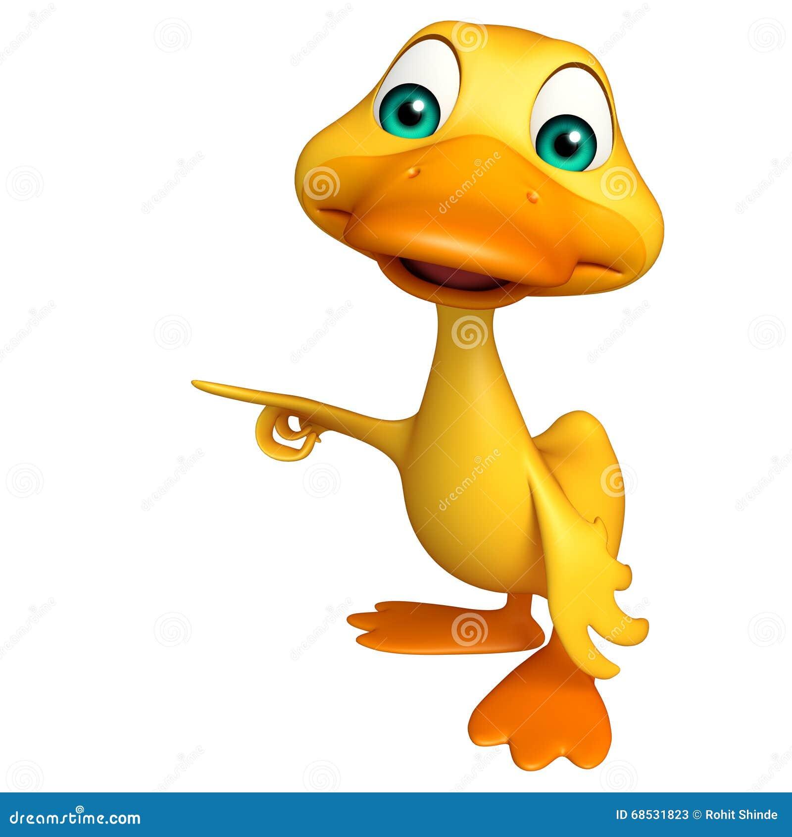 Duck Funny Cartoon Character Stock Illustration - Image ...