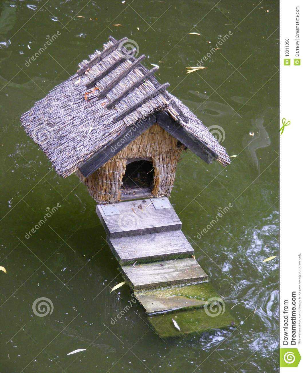 Duck house royalty free stock image image 10311356 for Building a duck house shelter