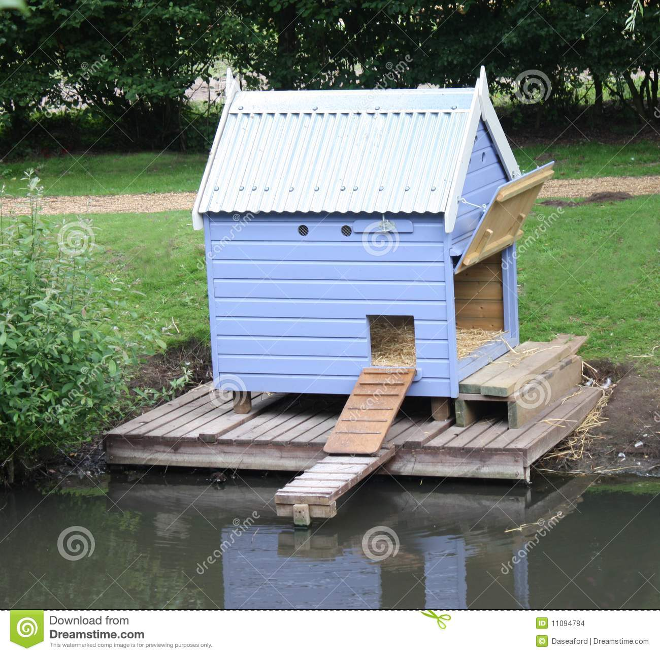 Duck house stock images image 11094784 for Building a duck house shelter