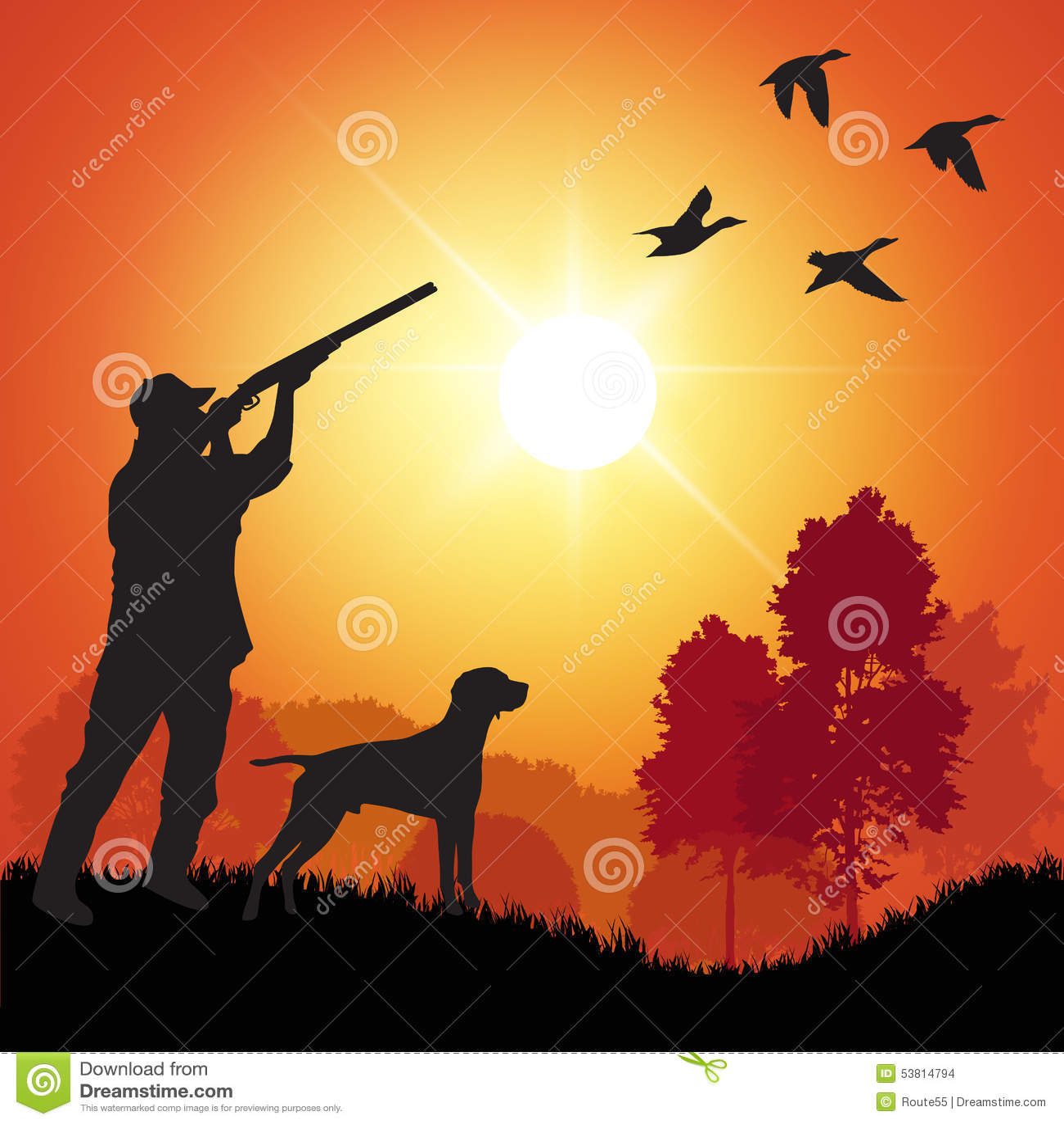 Duck Hunter Stock Vector - Image: 53814794