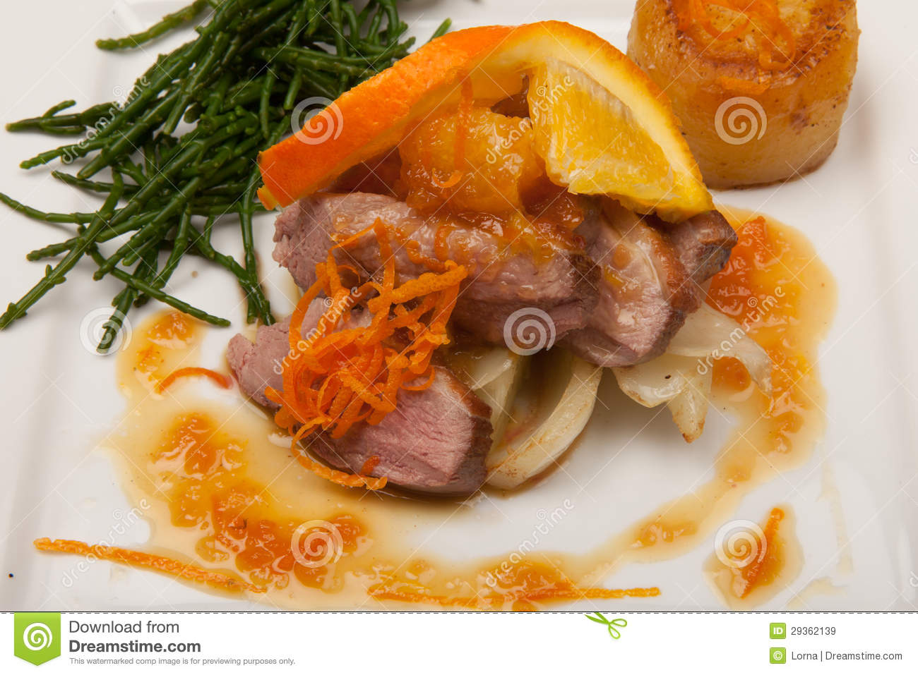 Duck A L'orange Royalty Free Stock Images - Image: 29362139
