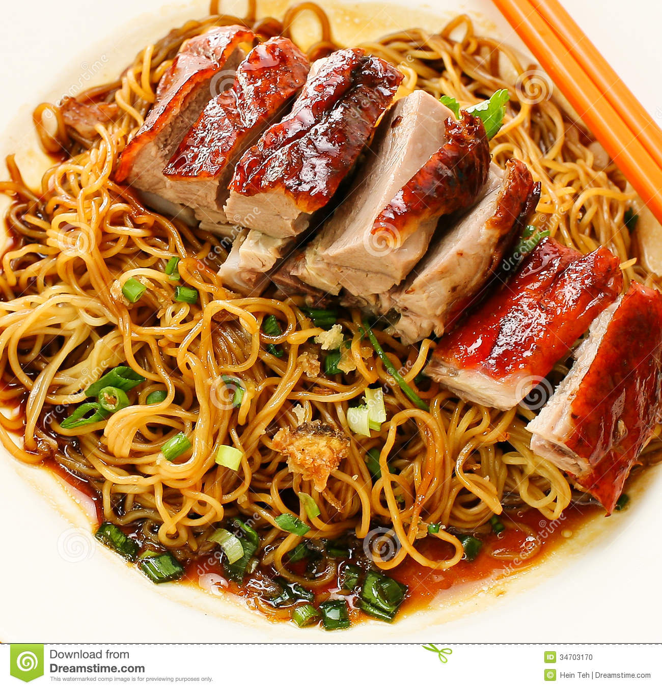 Duck noodle. food asia