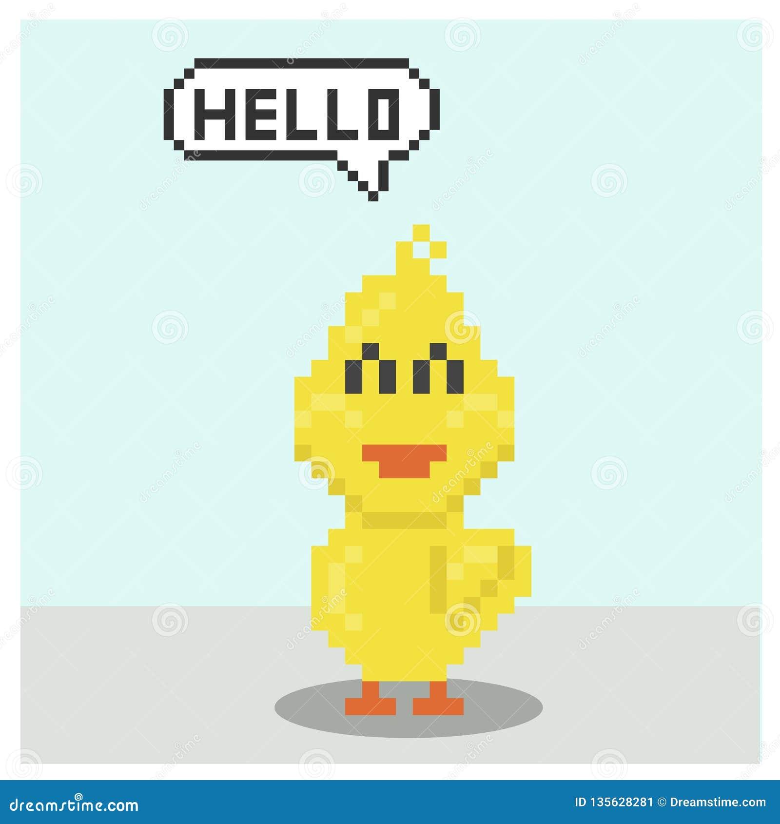 Pixel Art Saying Cool