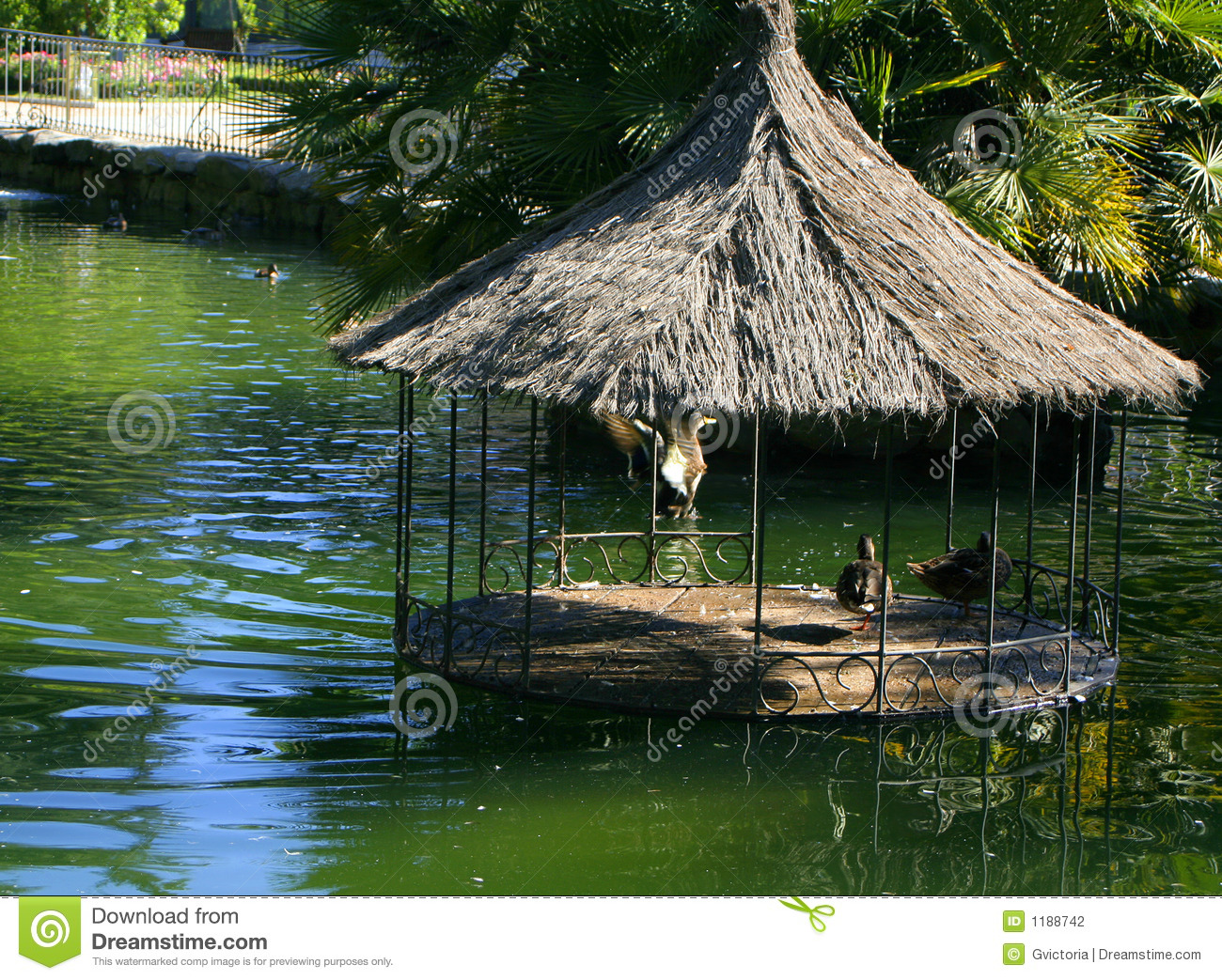 Duck pond stock photography image 1188742 for Duck shelter designs
