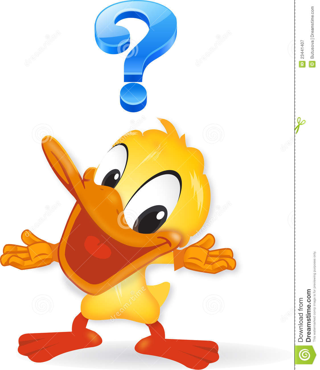 Duck - Question Illustration Royalty Free Stock ...