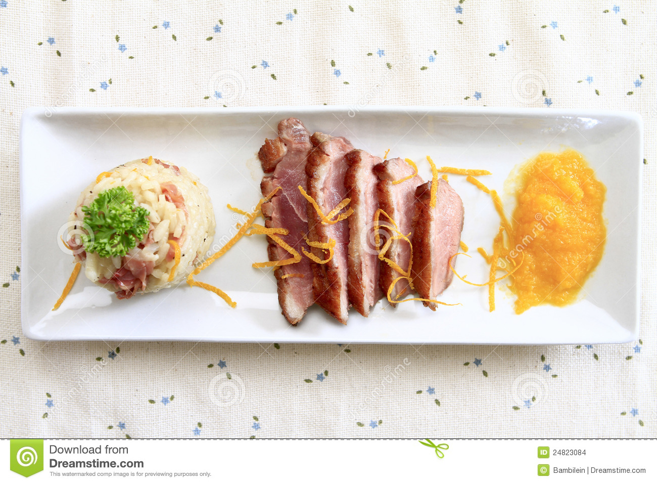 Duck Risotto Stock Images - Image: 24823084