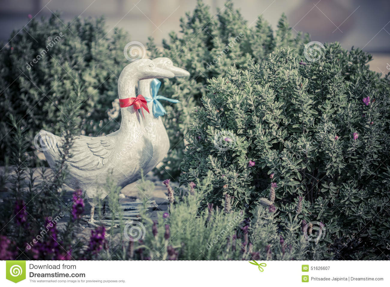Royalty Free Stock Photo. Download Duck Statues In English Garden ...