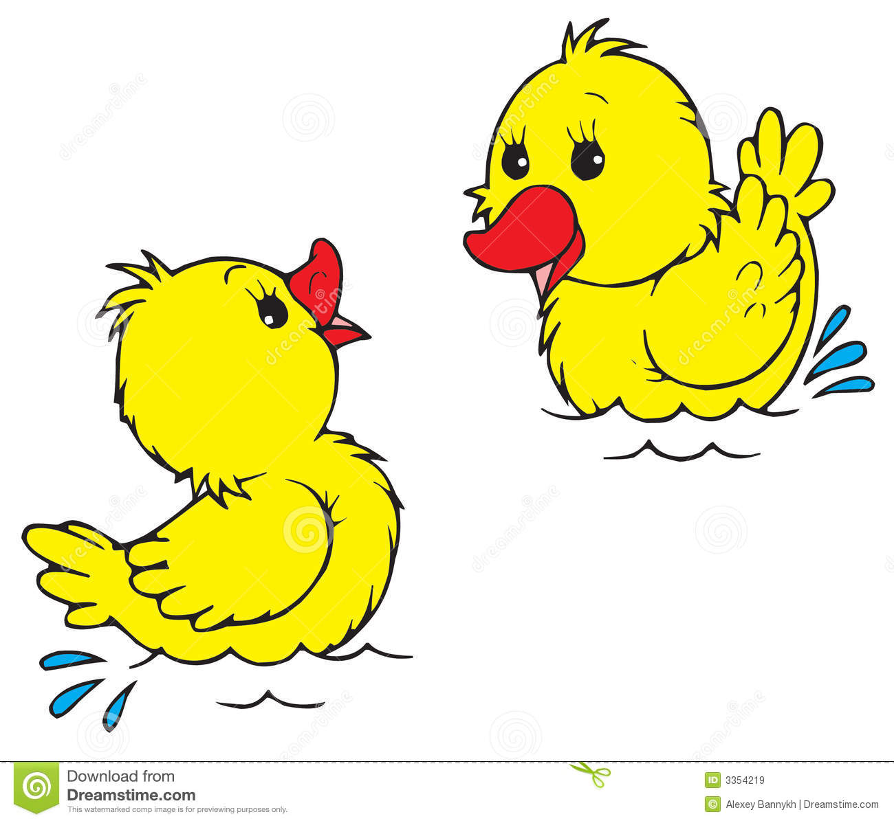 Yellow Baby Ducks Clip Art Ducklings  vector clip-art