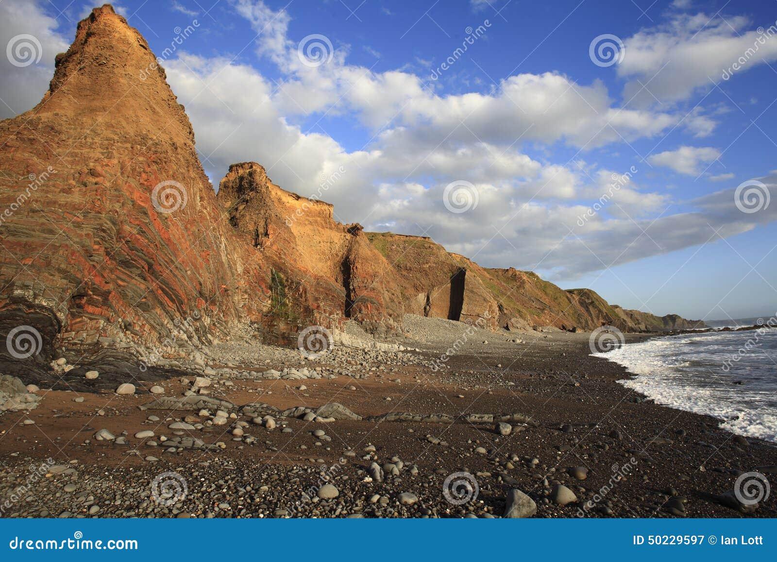 Duckpool-Strandüberschrift in Richtung zum bude Cornwall Großbritannien