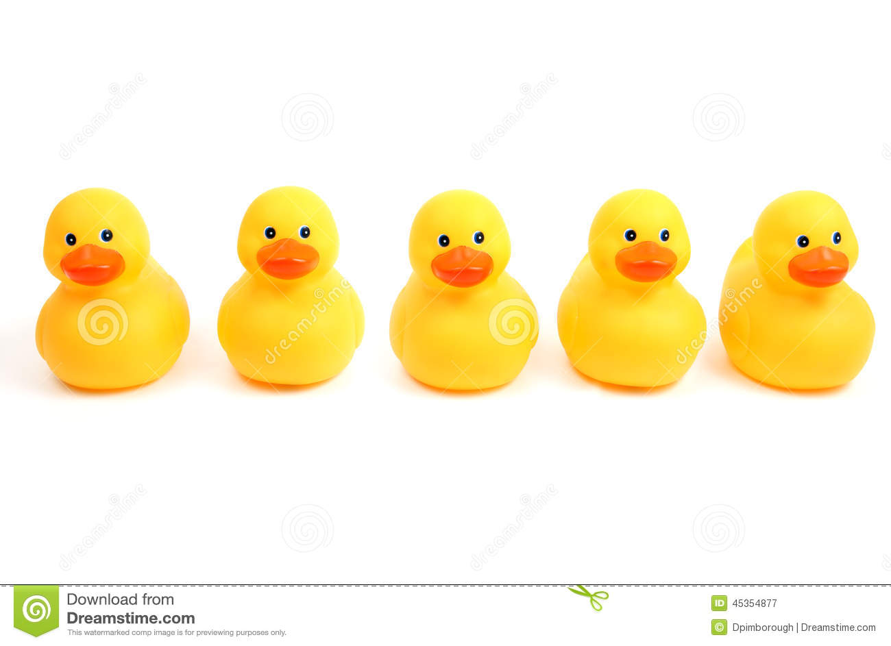 Ducks In A Row Stock Image Image Of Play Bathroom