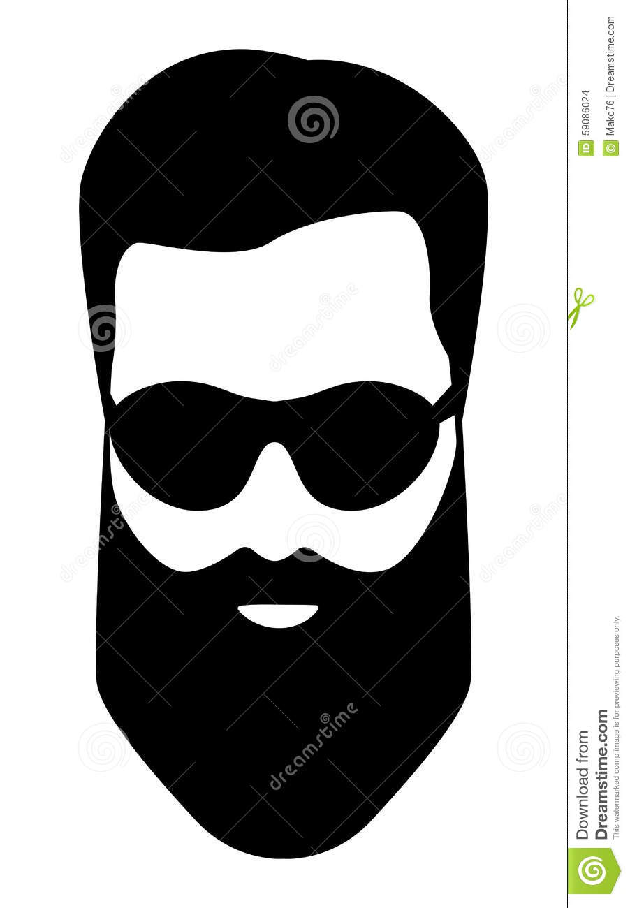 dude bearded man illustration stock vector image 59086024