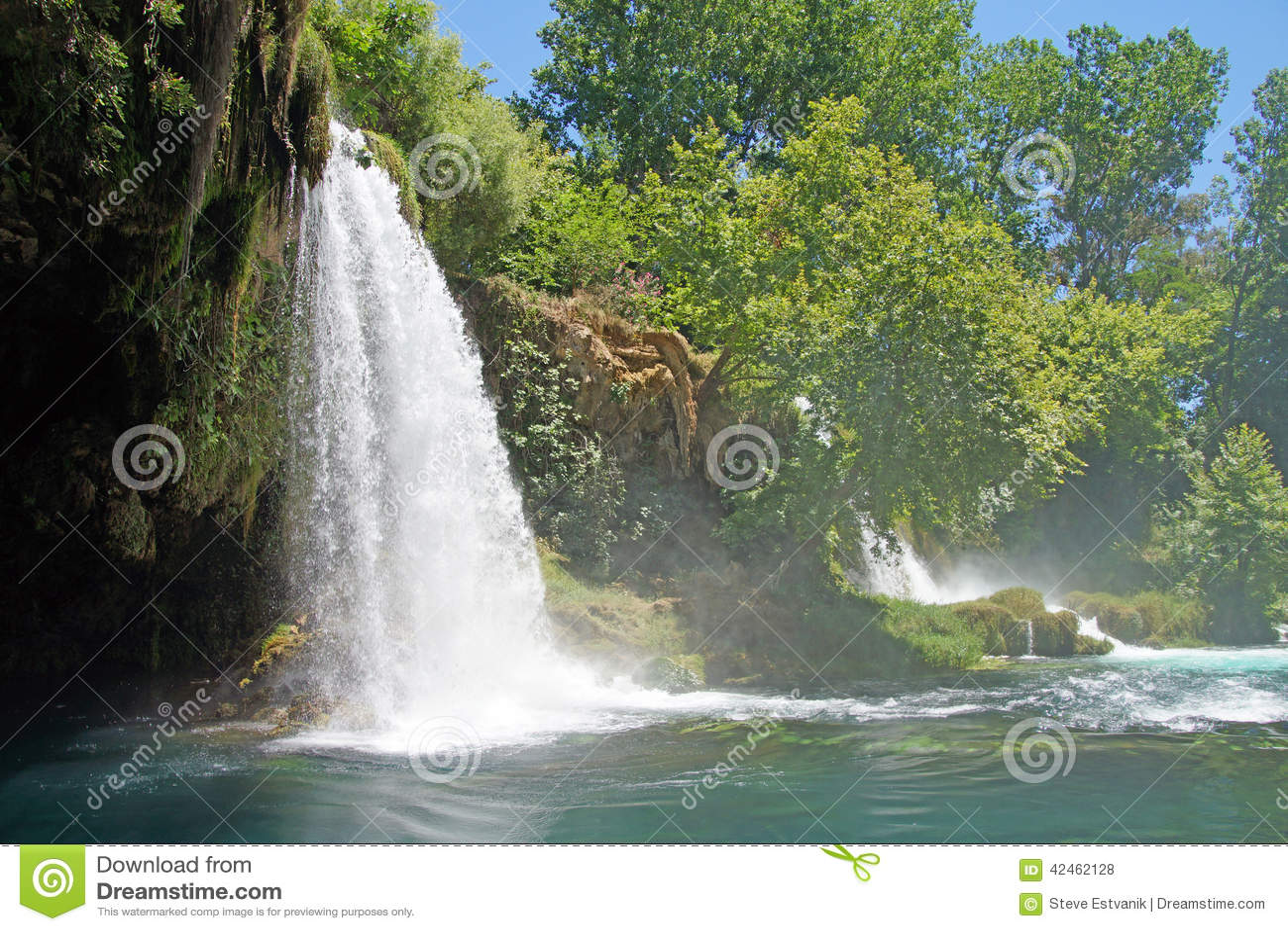 Duden-Wasserfälle schnitzen durch Karst