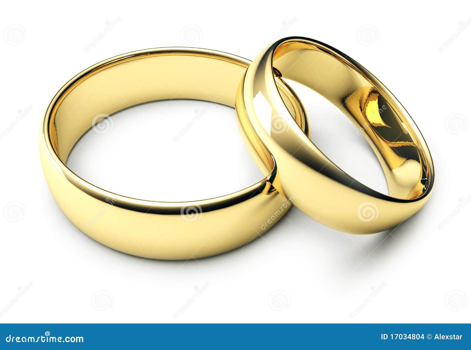 Due anelli di cerimonia nuziale dell oro