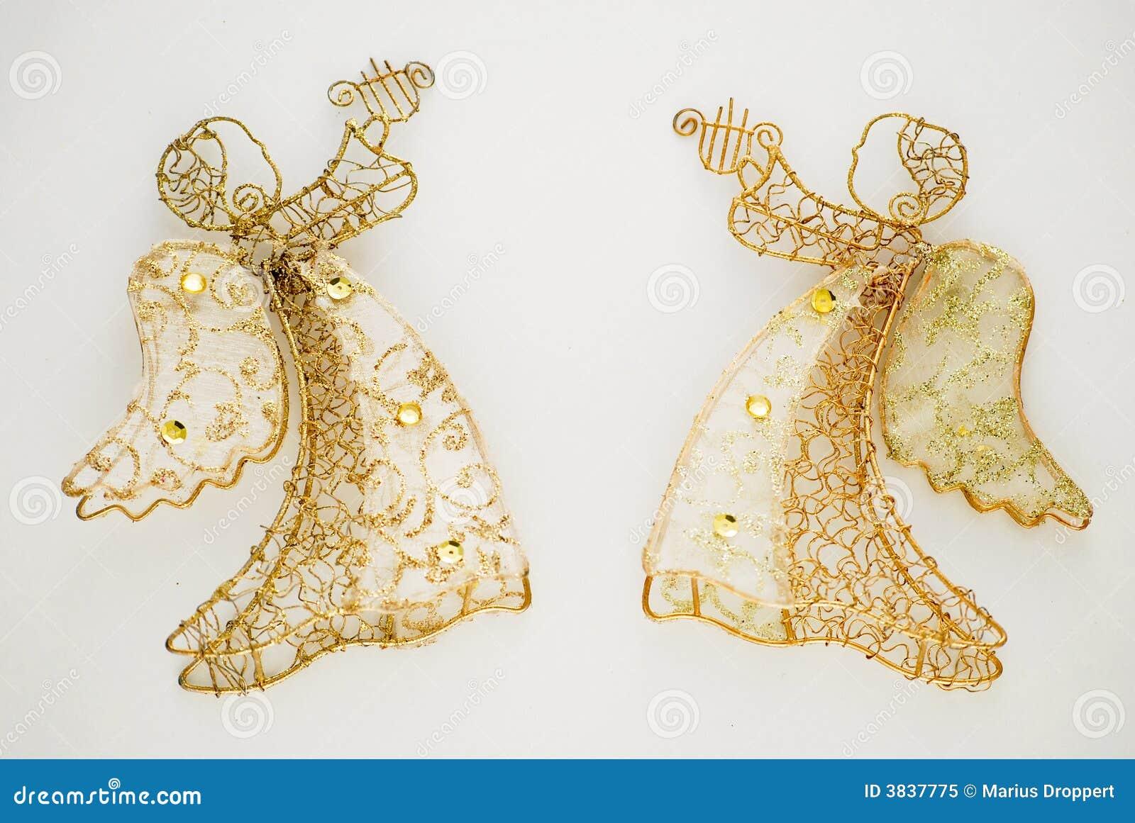 Due angeli dorati