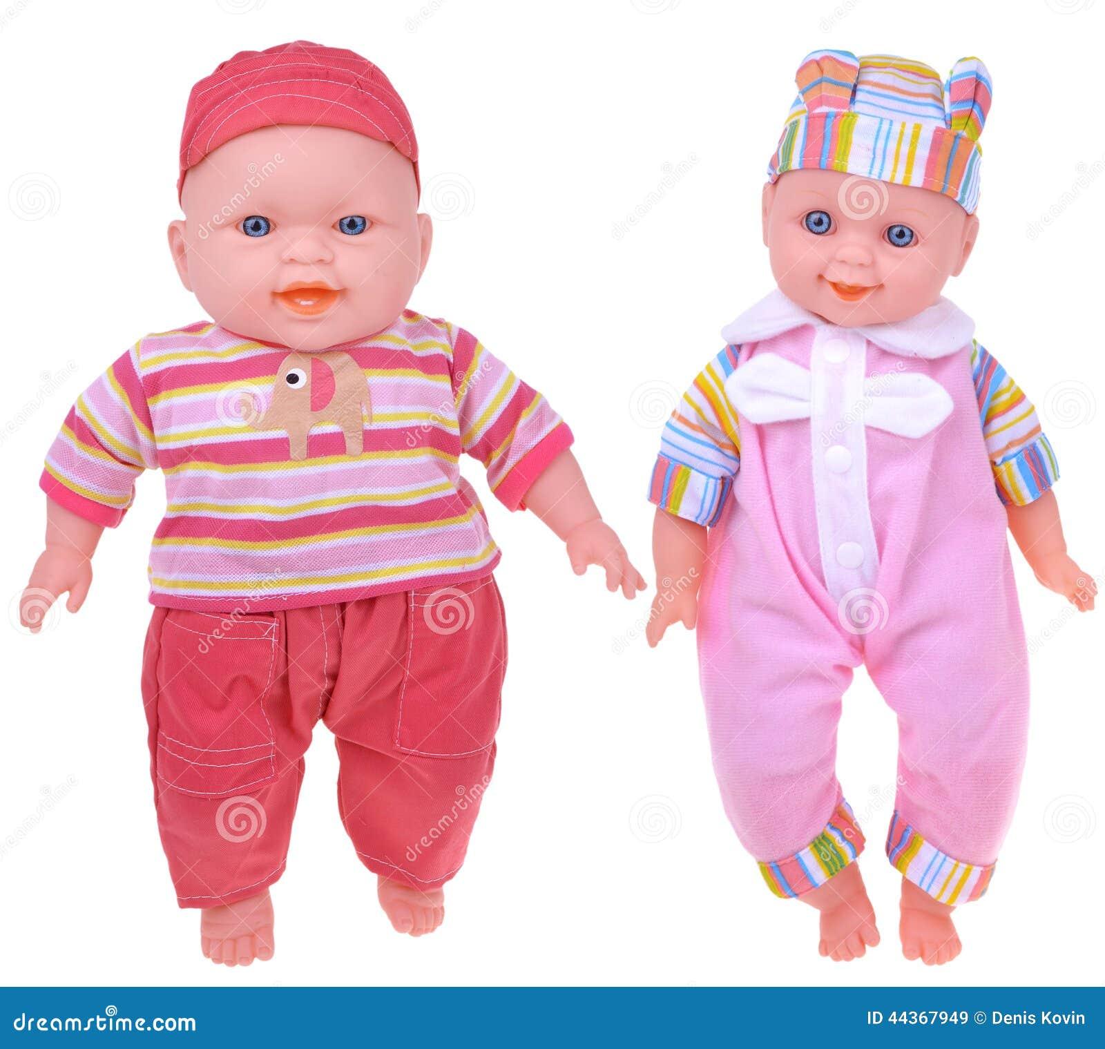 Due bambole strane sconosciute del bambino