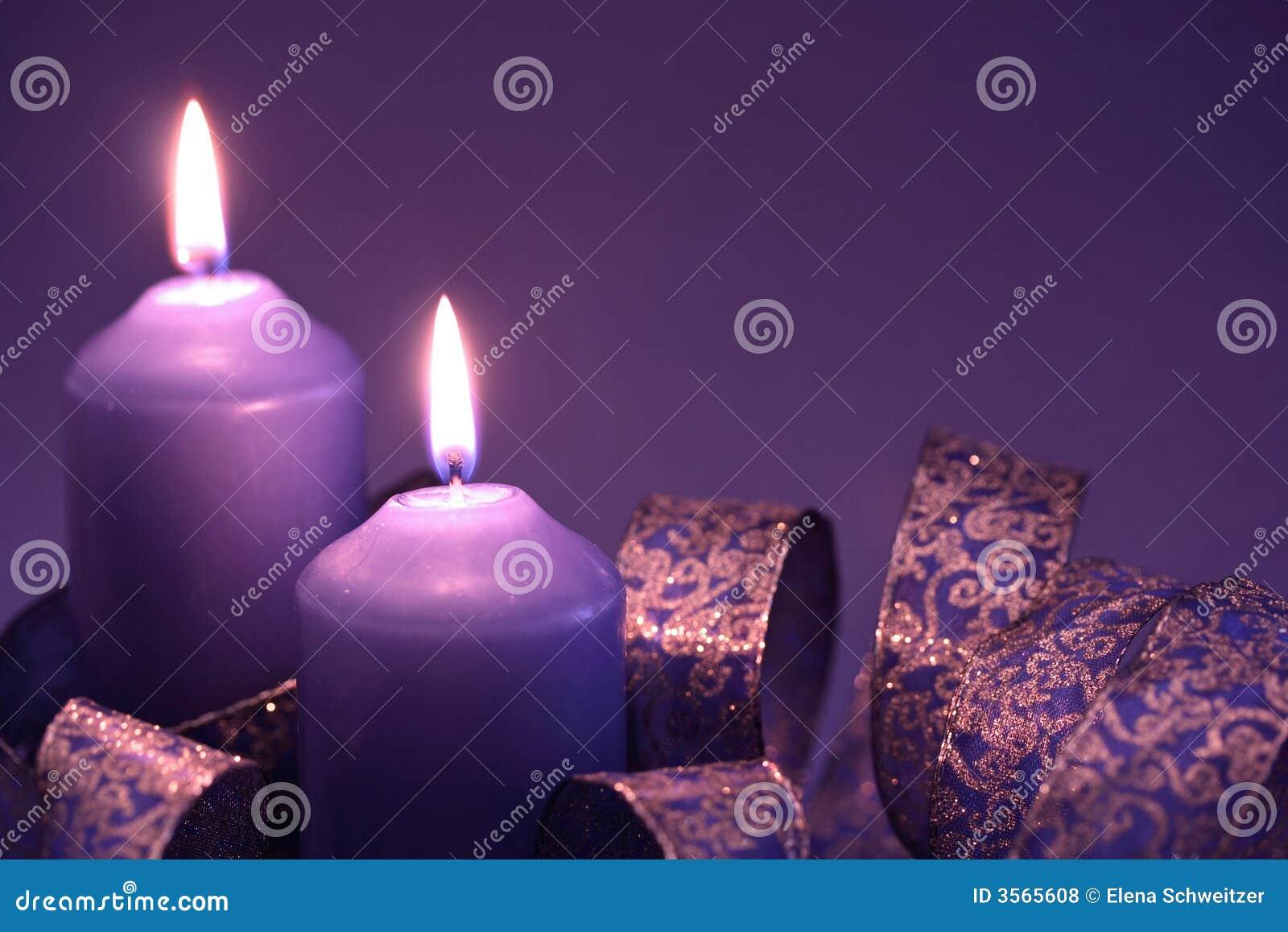 Due candele lilla