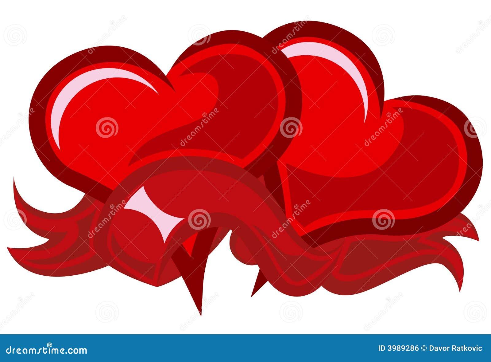 Due cuori rossi immagine stock libera da diritti for Immagini di cuori rossi