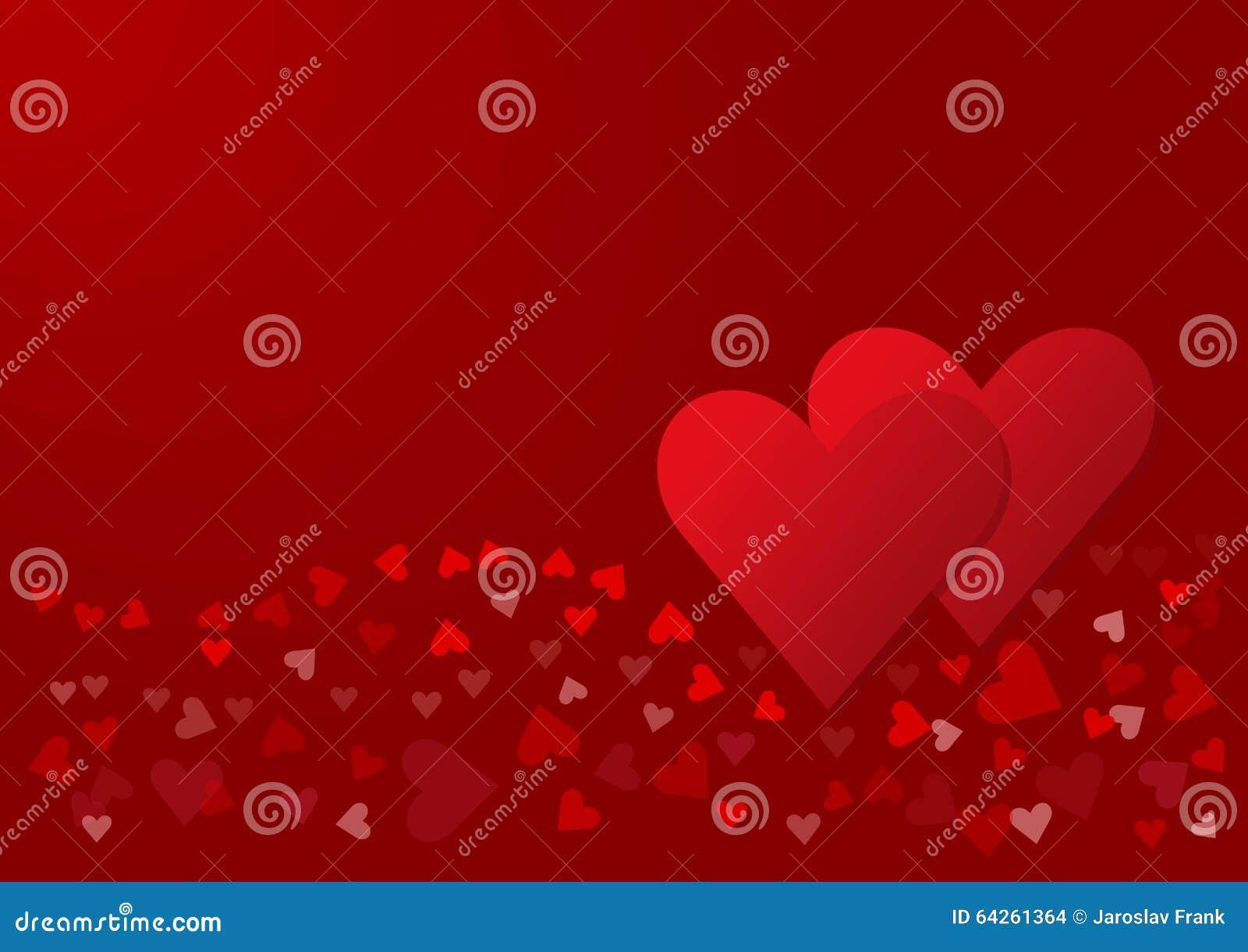 Due cuori rossi con un 39 ondata di cuori rossi illustrazione for Immagini di cuori rossi