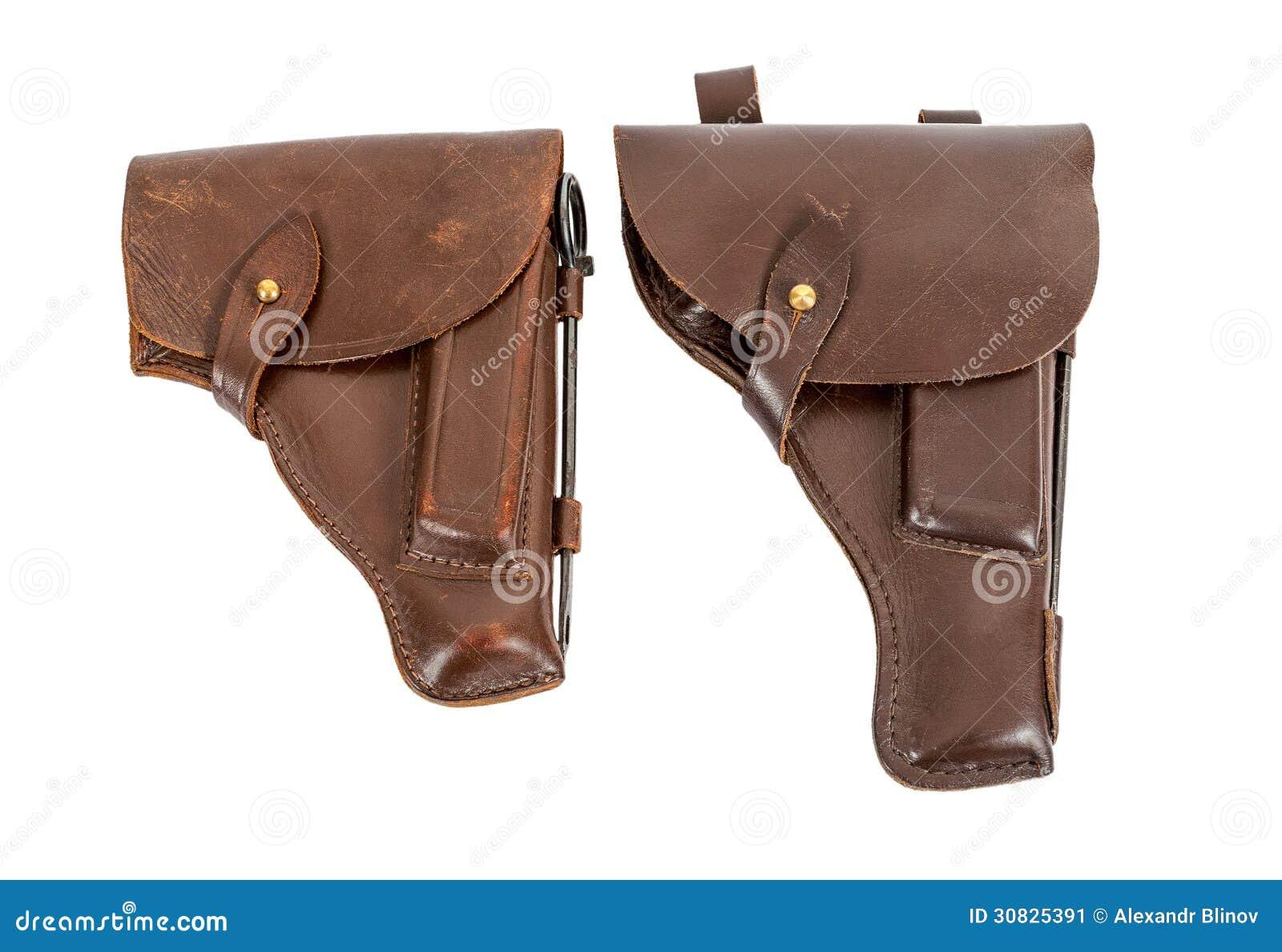 Due custodie per armi della rivoltella