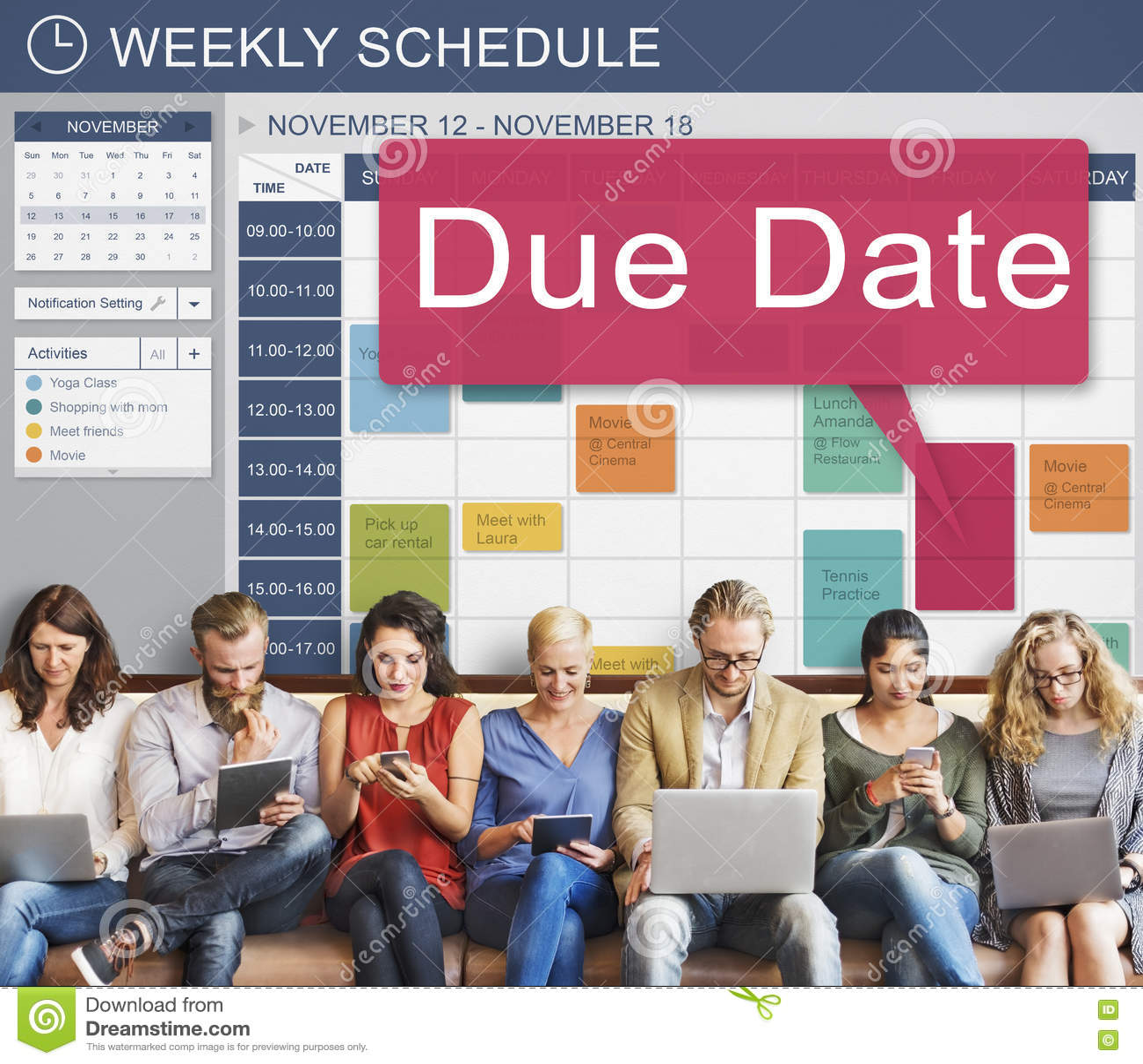 due date deadline schedule calendar reminder to do concept royalty free stock image. Black Bedroom Furniture Sets. Home Design Ideas