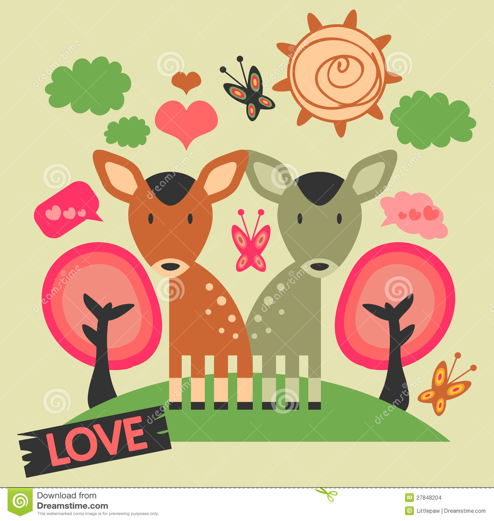 Due deers svegli nell amore