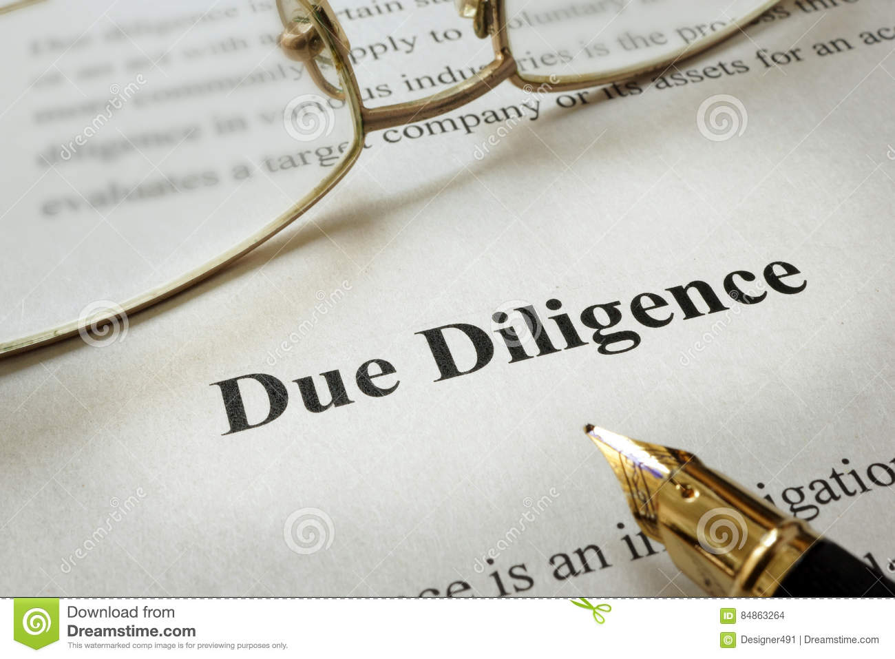 Due Diligence.