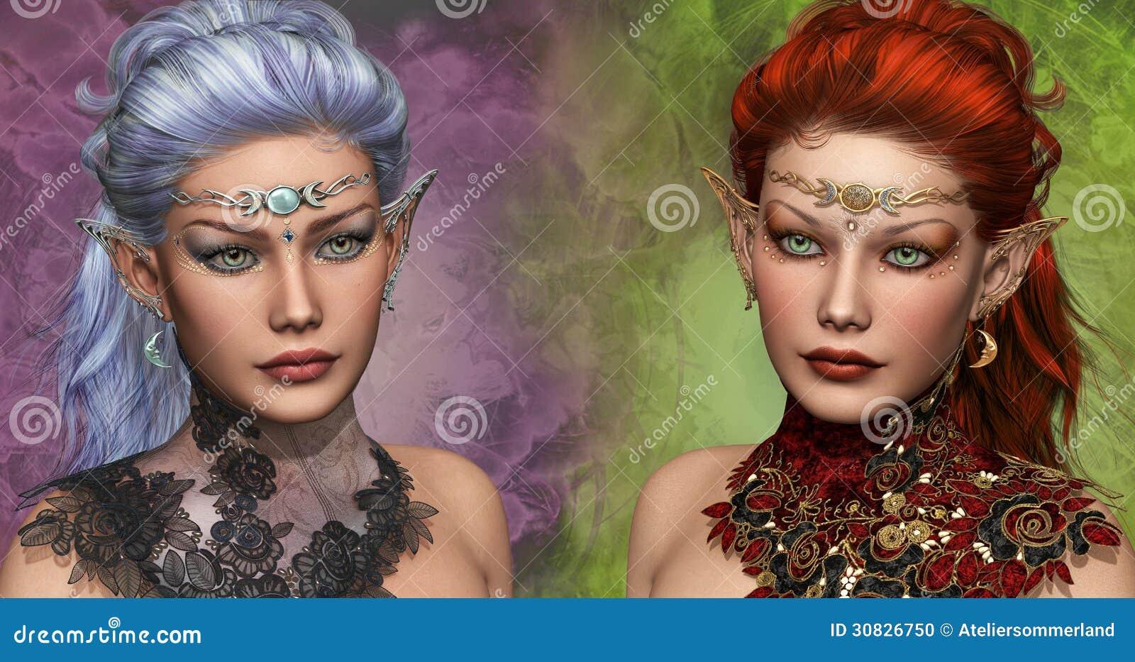 Due femmina Elven