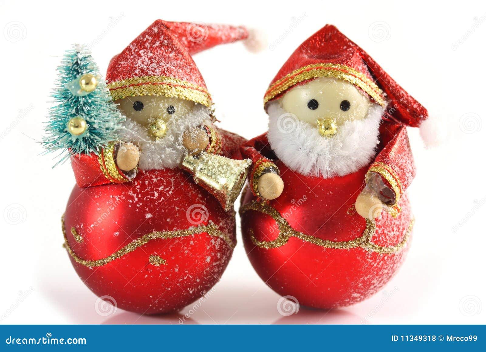 Due Figure Di Natale Del Padre Fotografia Stock Immagine Di
