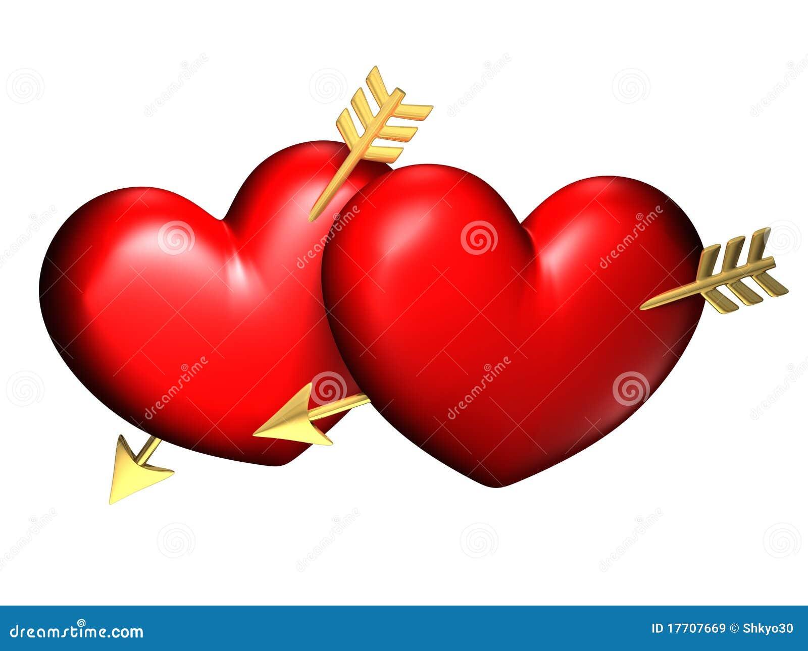 Due grandi cuori rossi e chubby immagine stock immagine for Immagini di cuori rossi