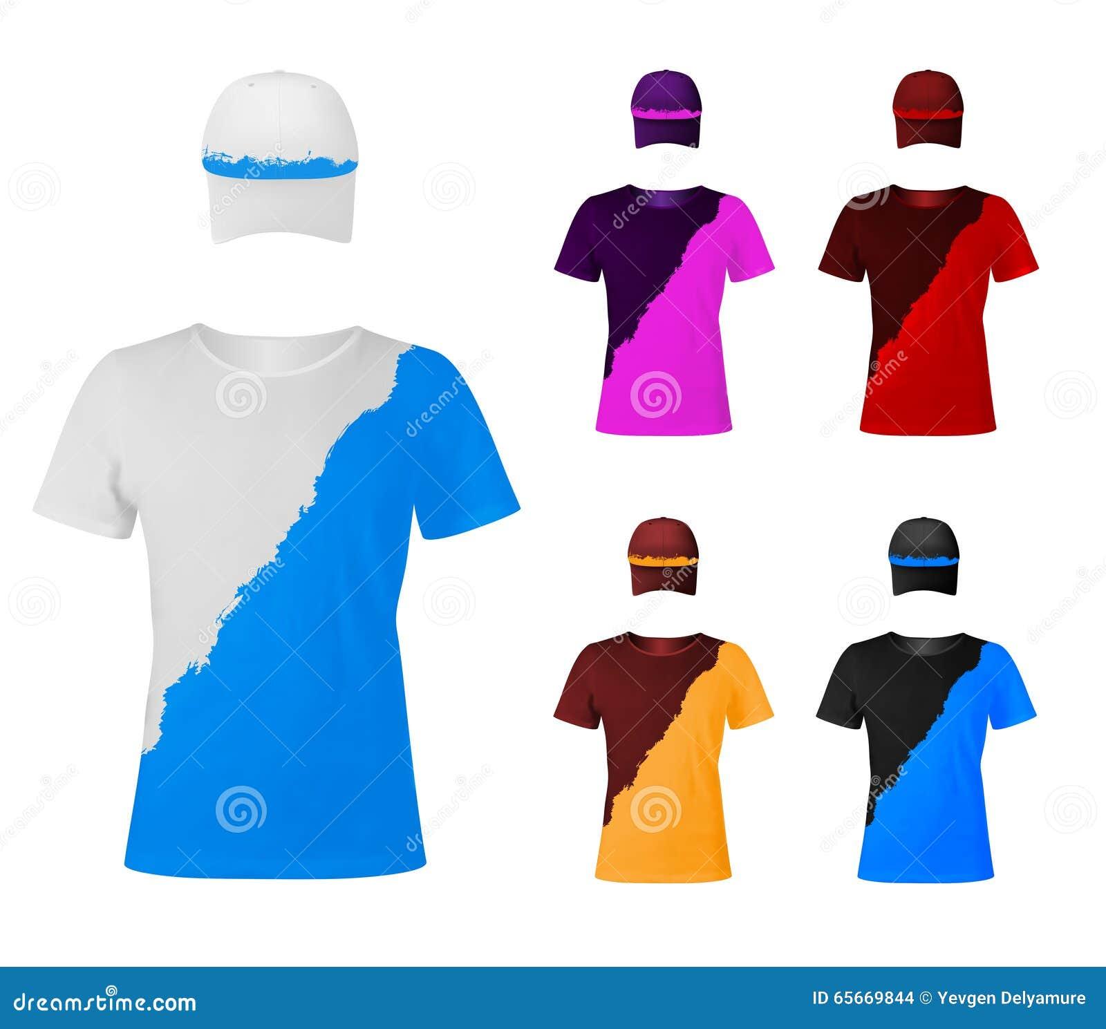 Due Magliette Di Colore Con I Cappelli Illustrazione Vettoriale