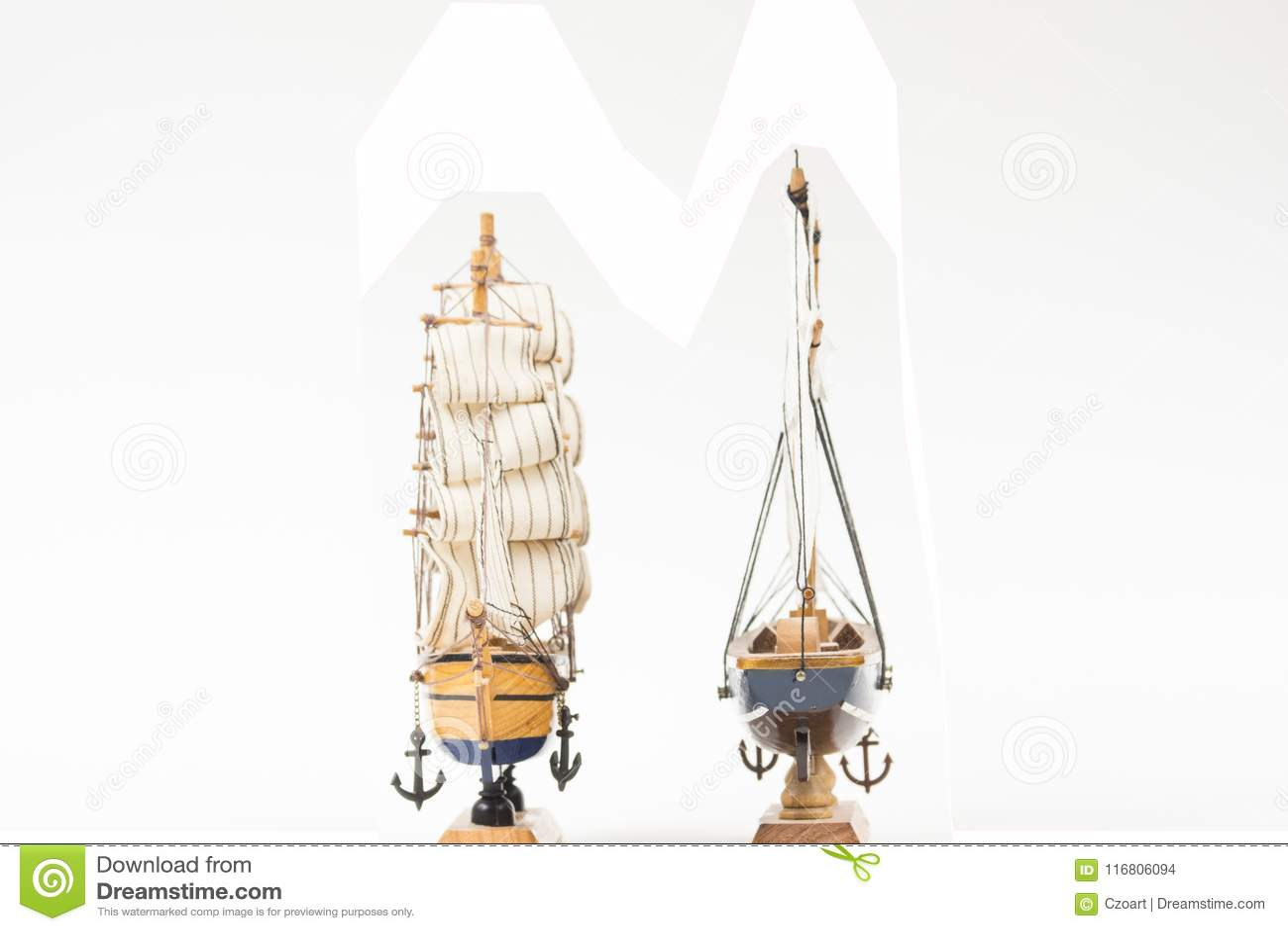Due modelli della barca a vela