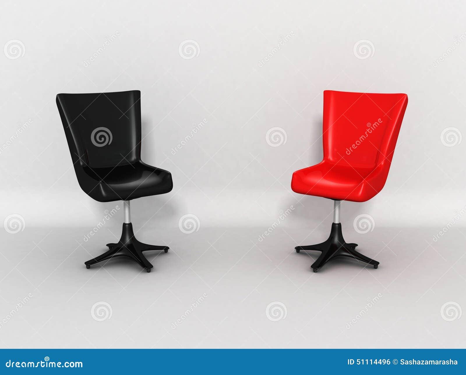 Due sedie brillanti moderne come concetto di discussione for Sedie design 3d