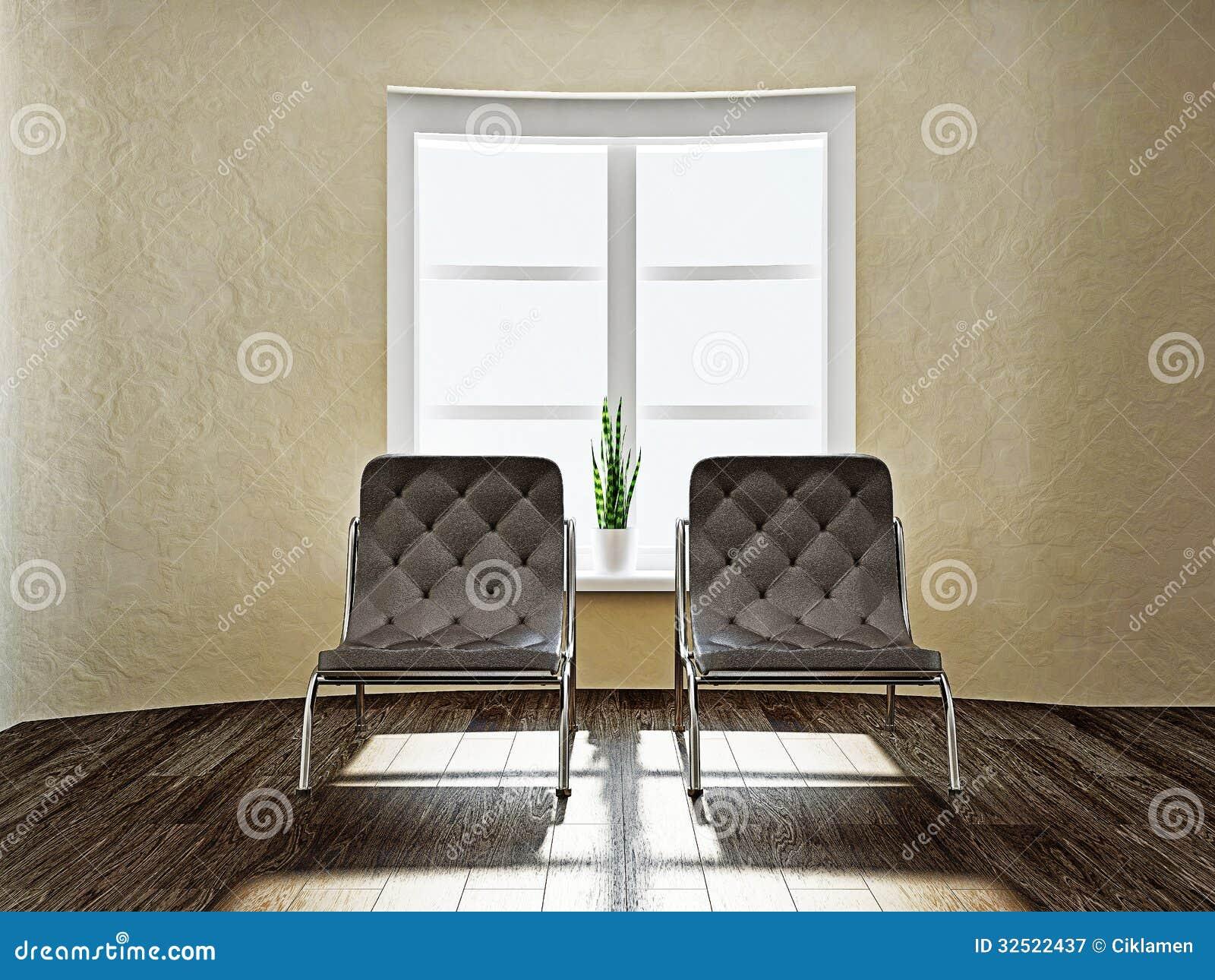 due sedie marroni fotografia stock libera da diritti