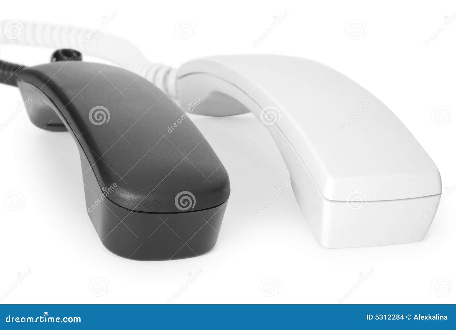 Download Due telefoni fotografia stock. Immagine di necessità, microtelefono - 5312284