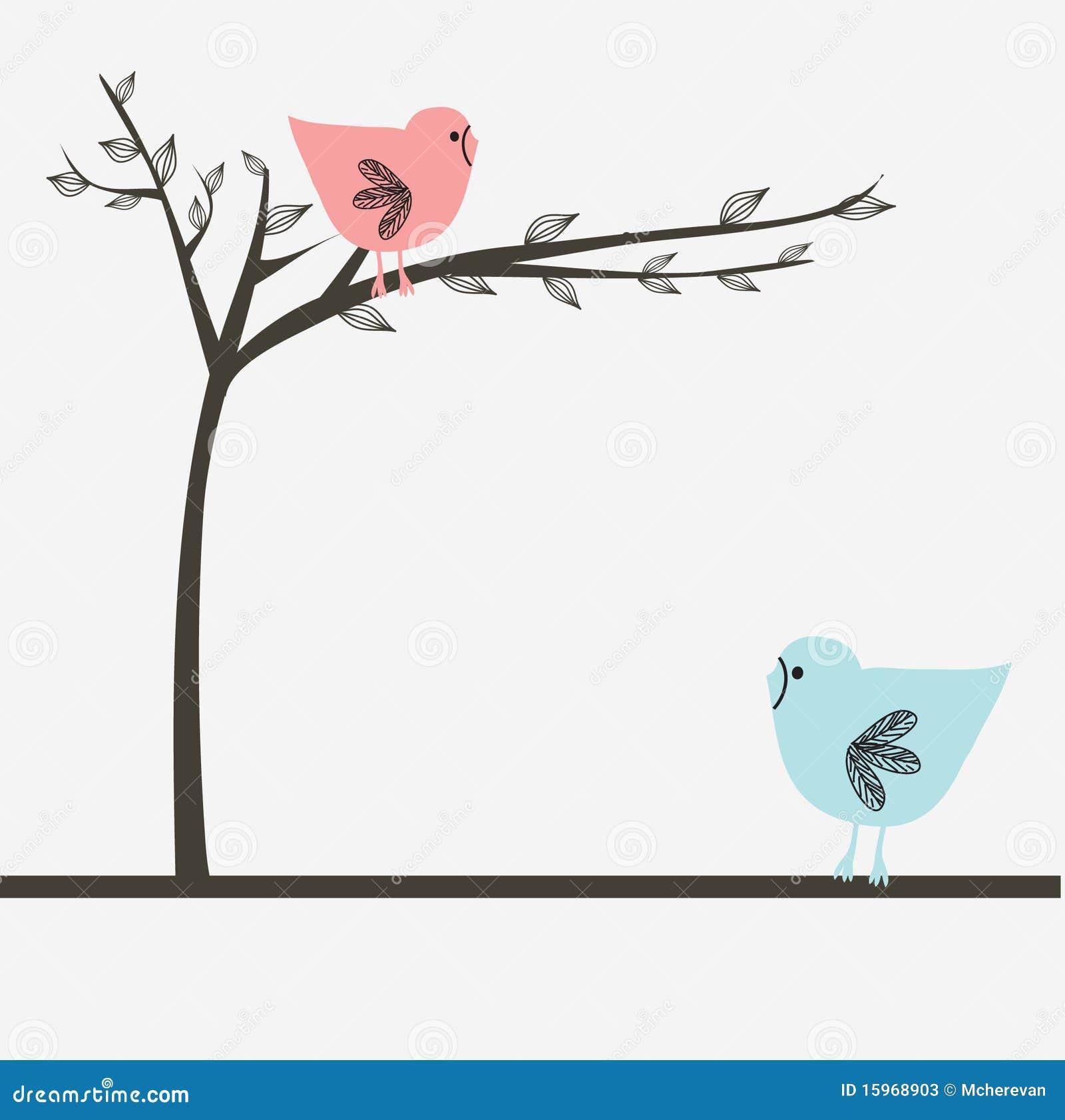 Due uccelli alla data di amore