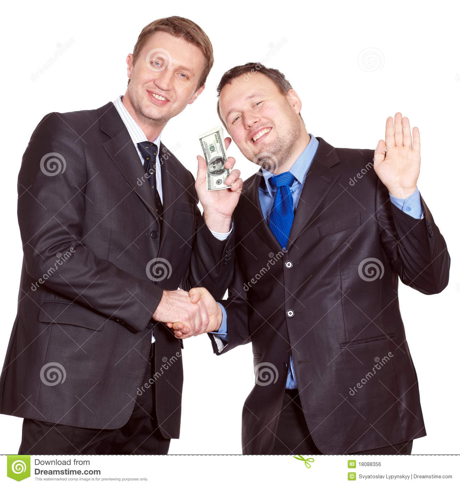 Due uomini d affari hanno un affare