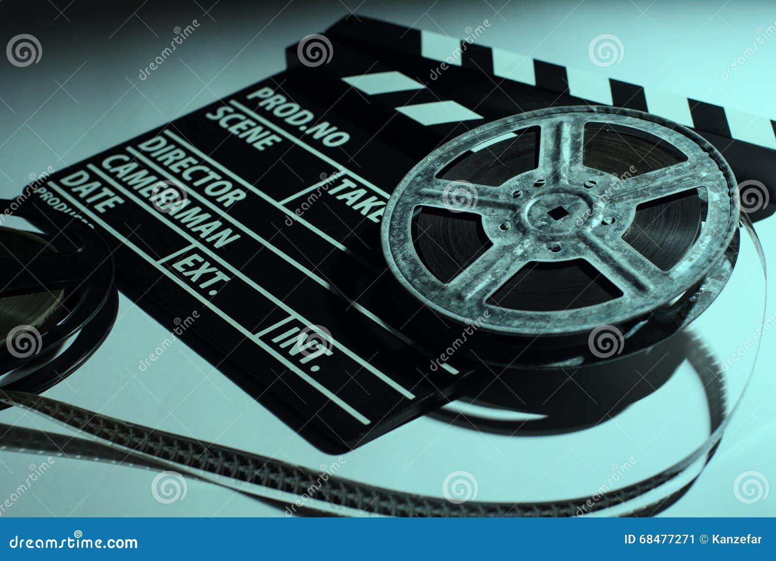 Due Vecchie Bobine Del Film E Dell'applauso Del Cinema Immagine