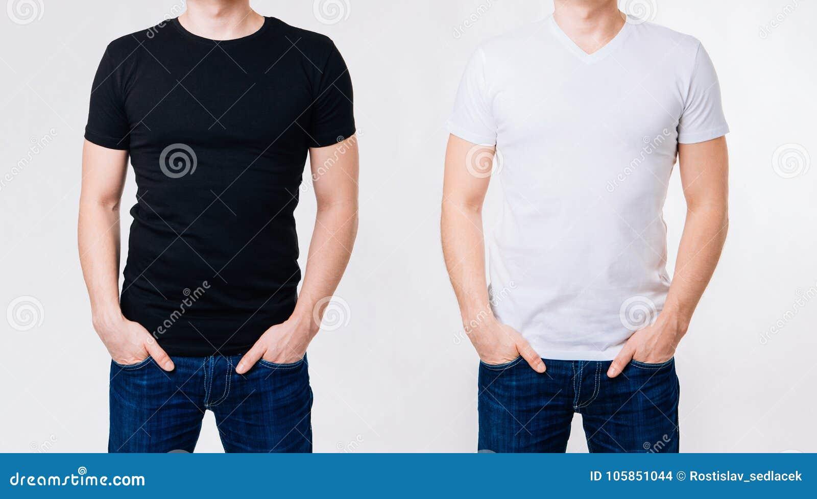 online store 9092d 22c16 Due Volte Uomo In Magliette In Bianco Bianche E Nere Su ...
