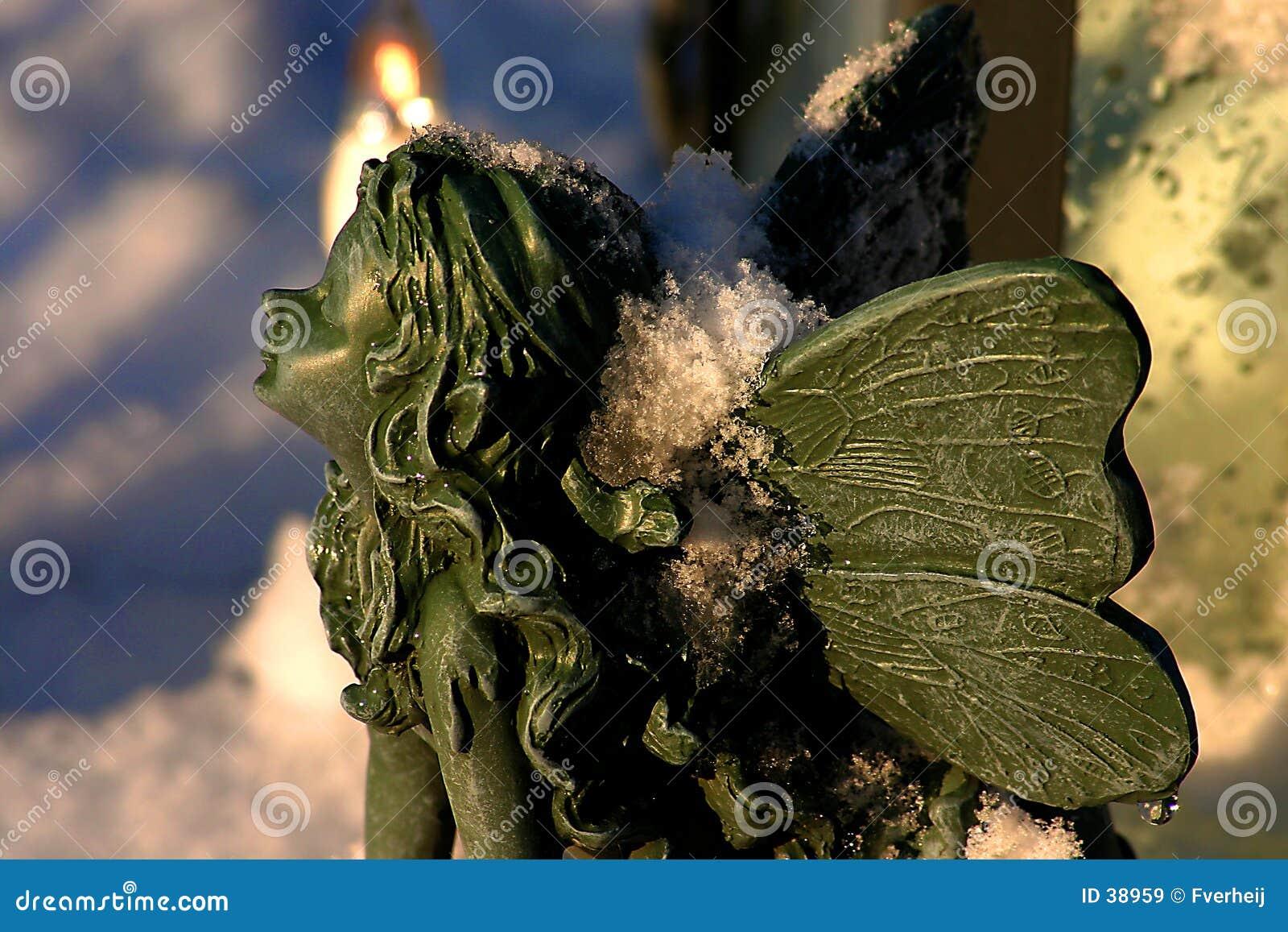 Download Duende en nieve imagen de archivo. Imagen de tarjeta, cierre - 38959