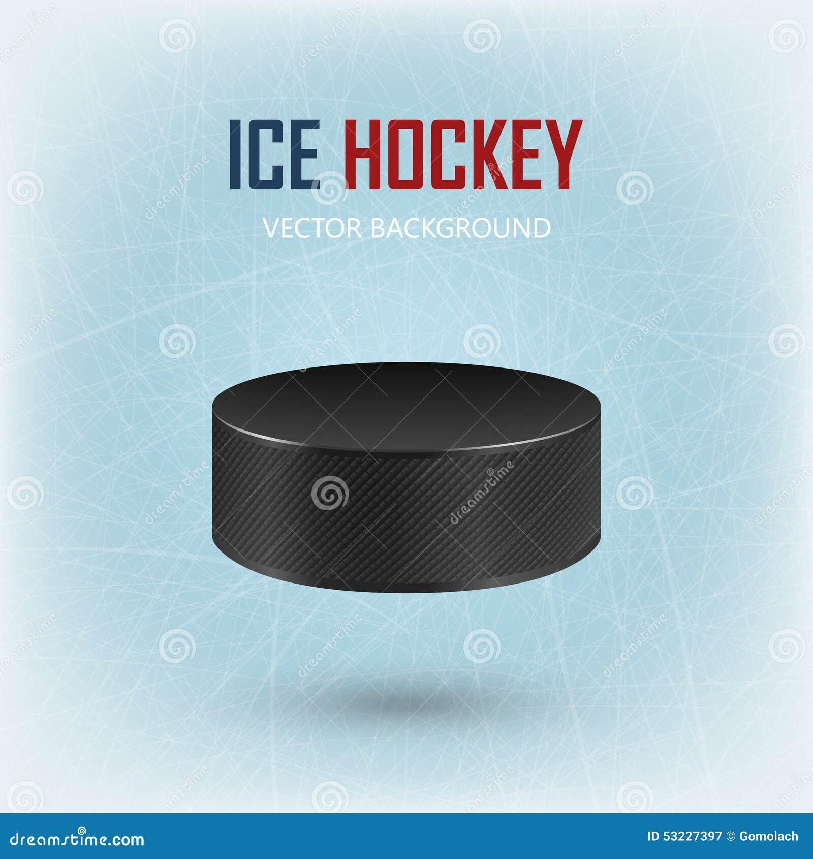 Duende malicioso de hockey negro en pista de hielo - vector el fondo