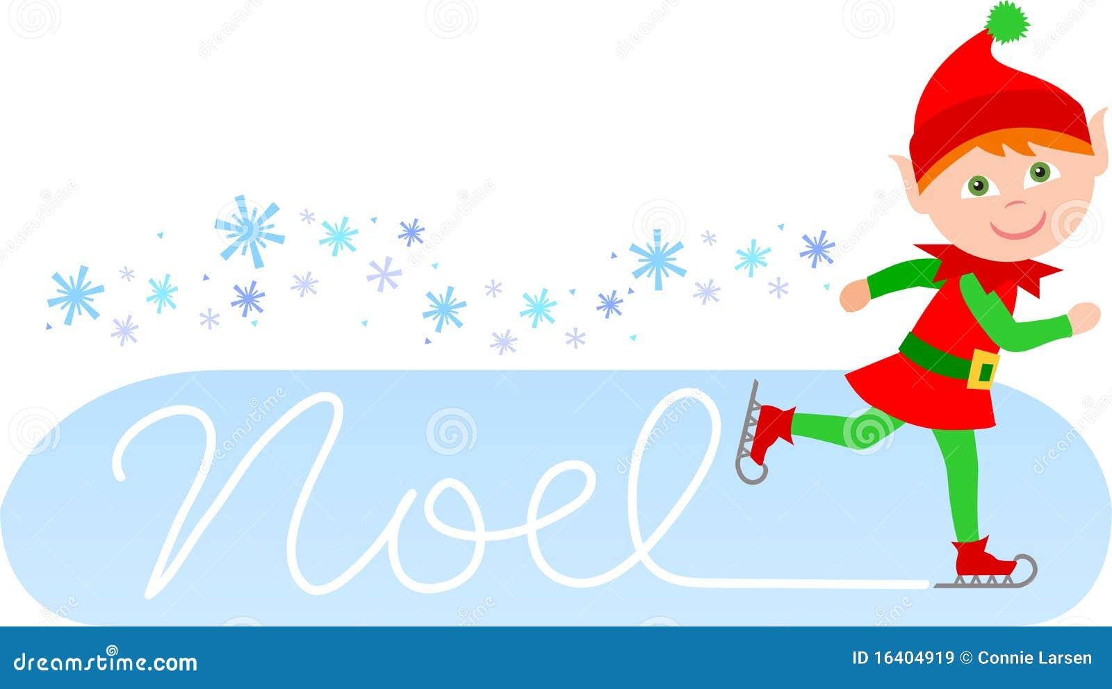 Duende patinador de Noel