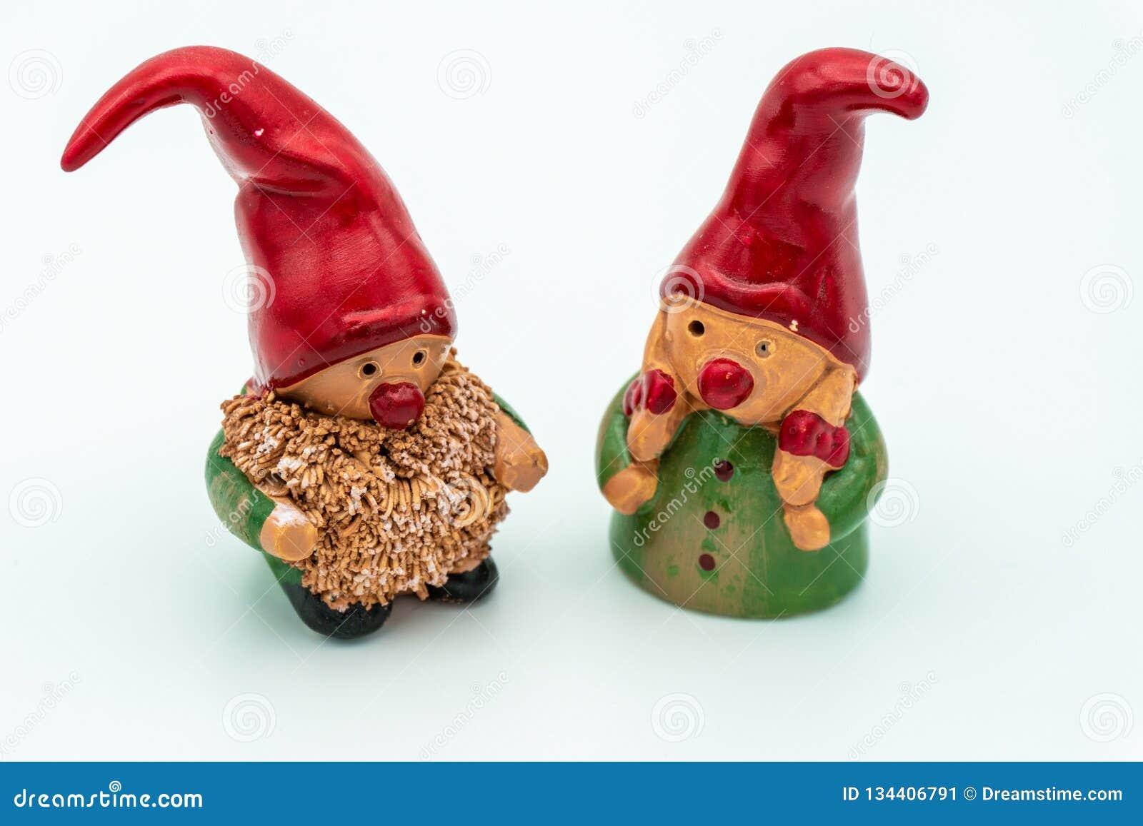 Duendes de la Navidad o gnomos de la Navidad