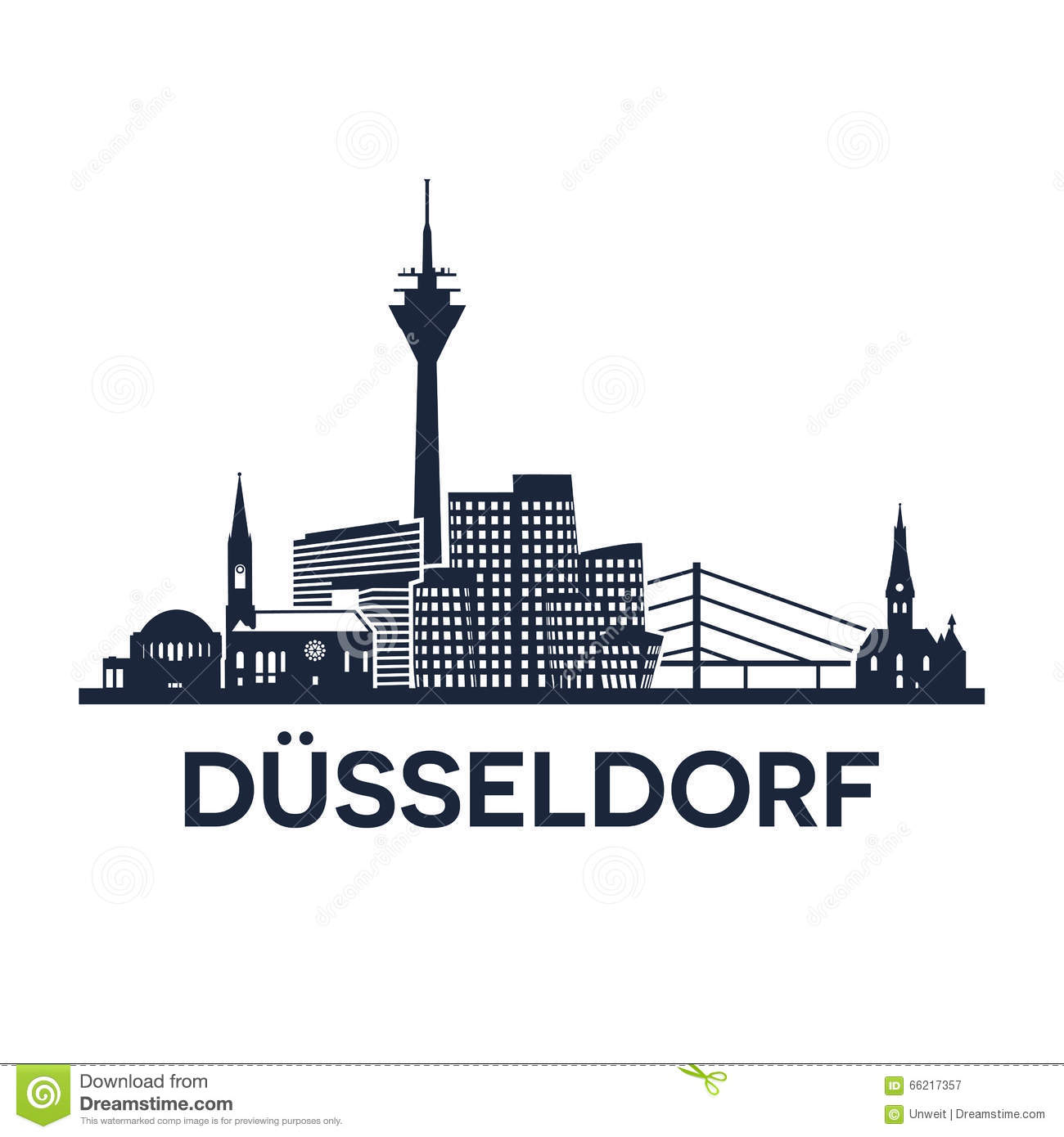 duesseldorf skyline emblem stock vector image of. Black Bedroom Furniture Sets. Home Design Ideas
