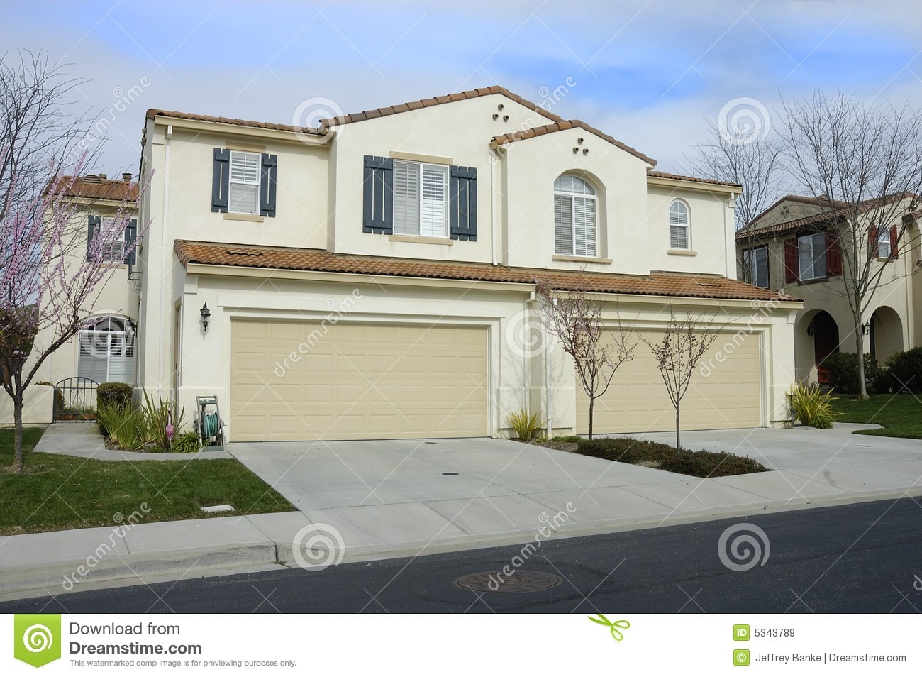 Duet Home Stock Image Image Of Arched Architect Duplex