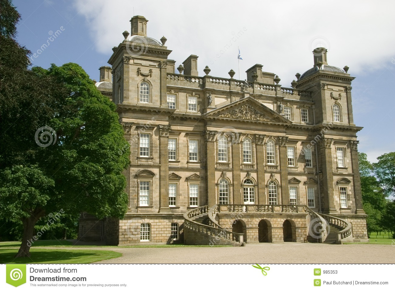 Duff stately home 18th century banff scotland stock Century home builders