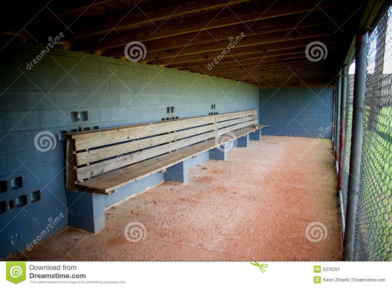 Dugout Empty Stock Image Image 5376251