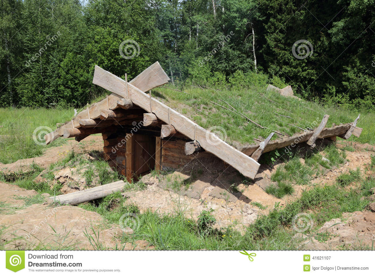 Dugout (shelter) Stock Photo - Image: 41621107